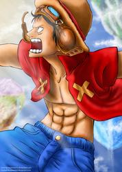 Luffy - Strong World by queenira