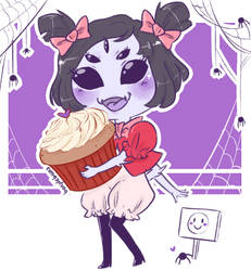Birthday greetings from Muffet by booplebuns