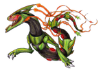 Space Roar (Mega-Rayquaza FanArt)-Colored version