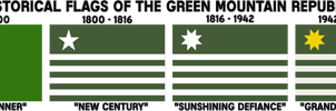 Historical Flags of the Green Mountain Republic