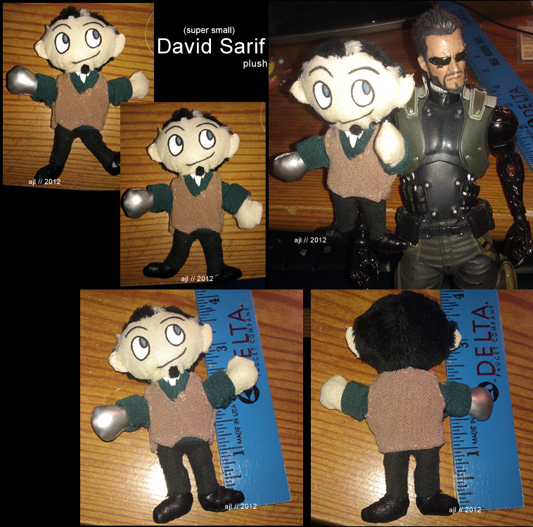 DXHR Small David Sarif Plush by TheNoTalentLoser