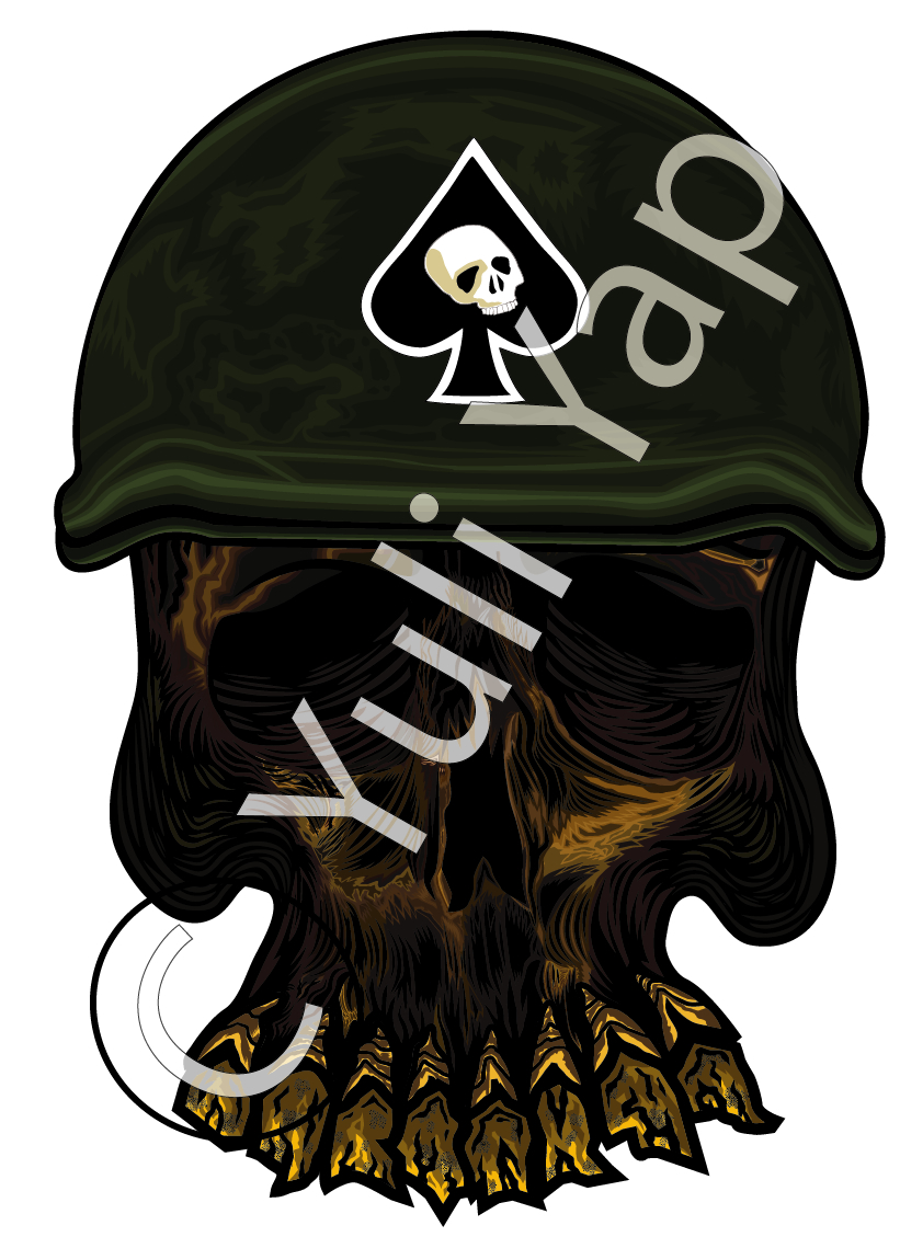 Army Skull by Skatarz on DeviantArt