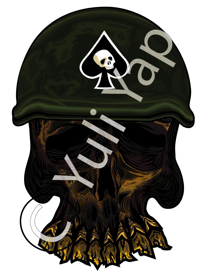 Army Skull by Skatarz on DeviantArt