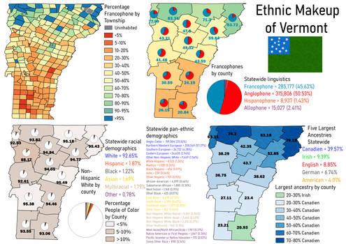 Vermont ethnic map
