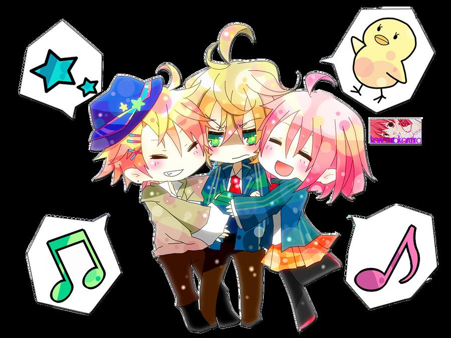 Natsuki,Shou and Haruka Render by Hana-Nakamura
