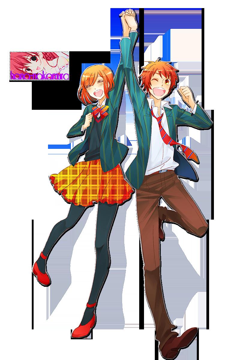 Haruka and Ittoki Render by Hana-Nakamura