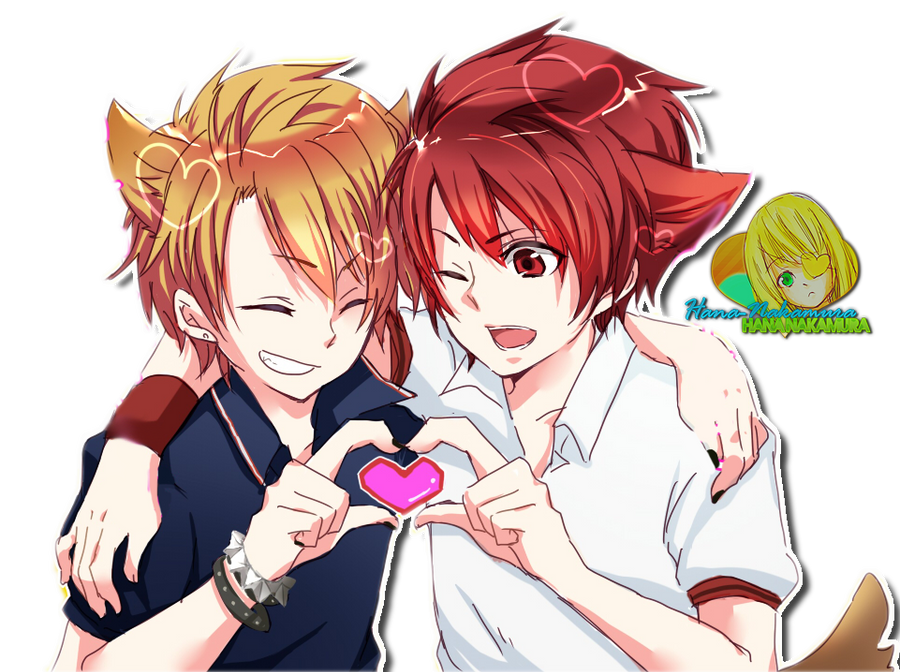 Otoya and Shou cat render by Hana-Nakamura