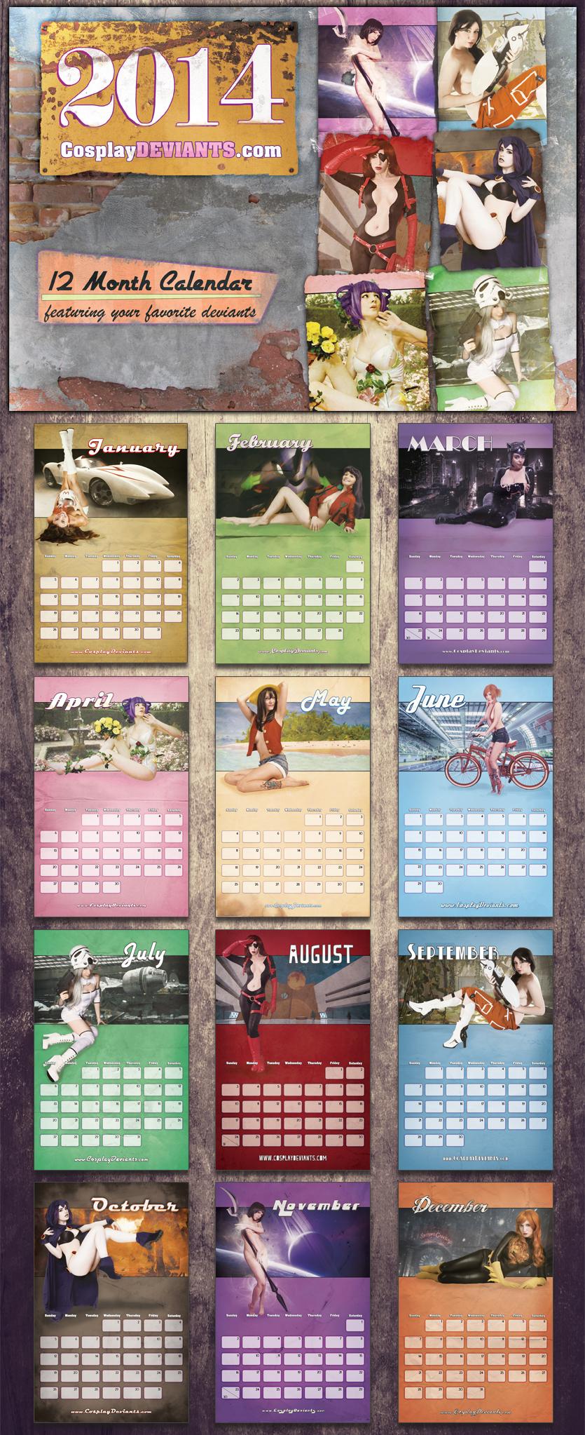 CosplayDeviants.com 2014 calendar by CosplayDeviants