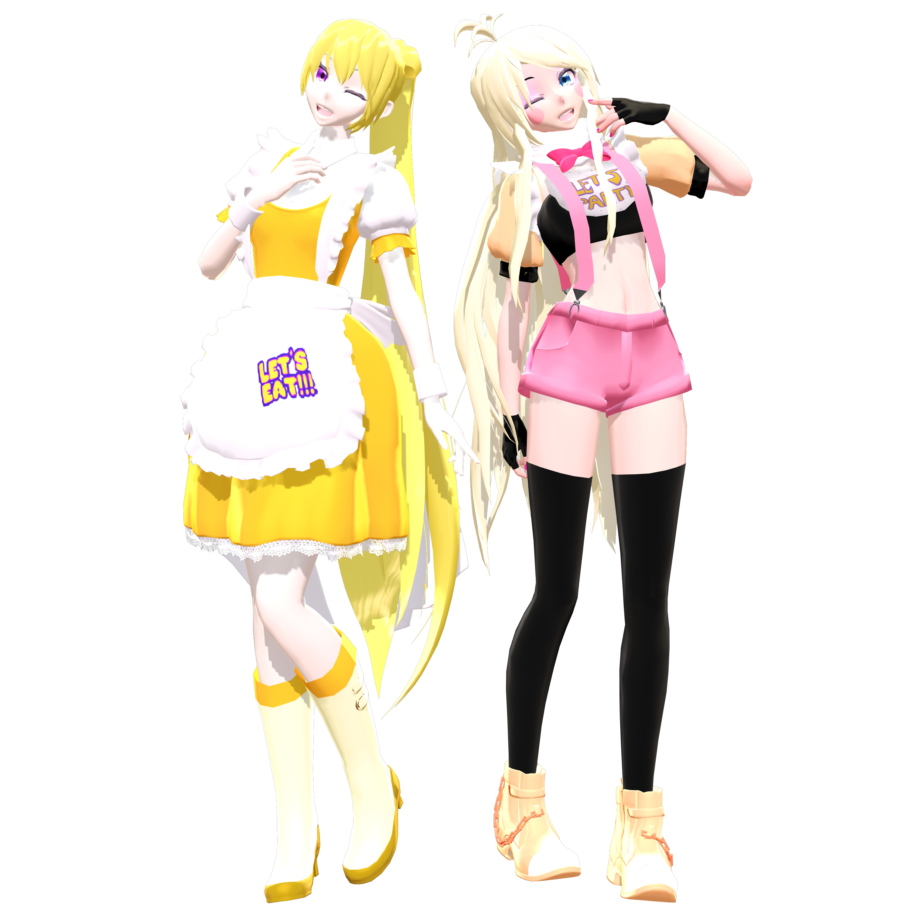 Mmd fnaf chica and toy chica by sharplefear on deviantart