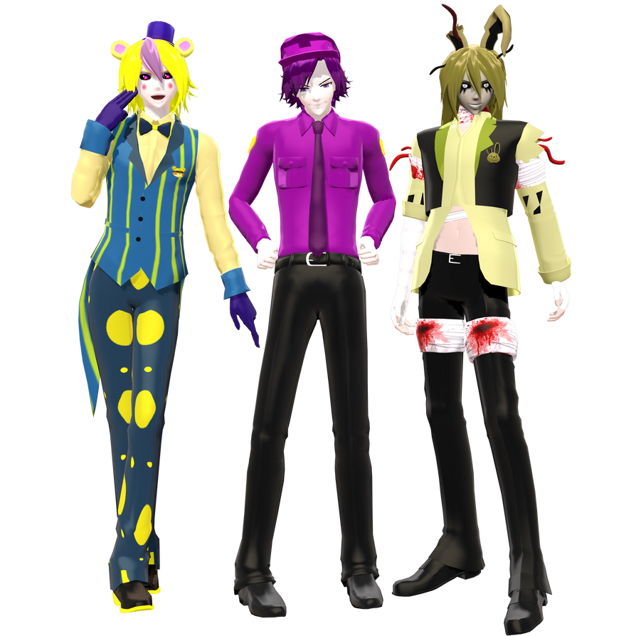 3d mmd gentleman with bunny girl haku 2