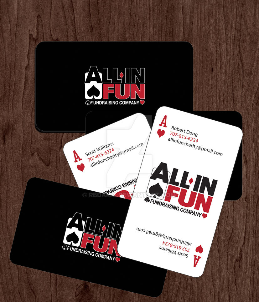 All-in Fun business card mock-up by RBDario on DeviantArt