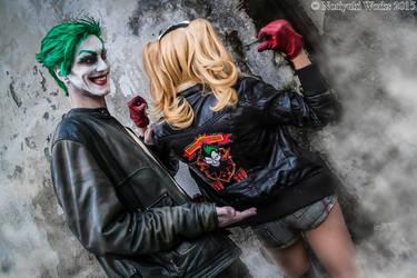 Joker and Harley Bombshells (Lucca2015) 02 by Noriyuki83