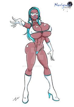 Sketch: Superheroine (OC Kaimana)