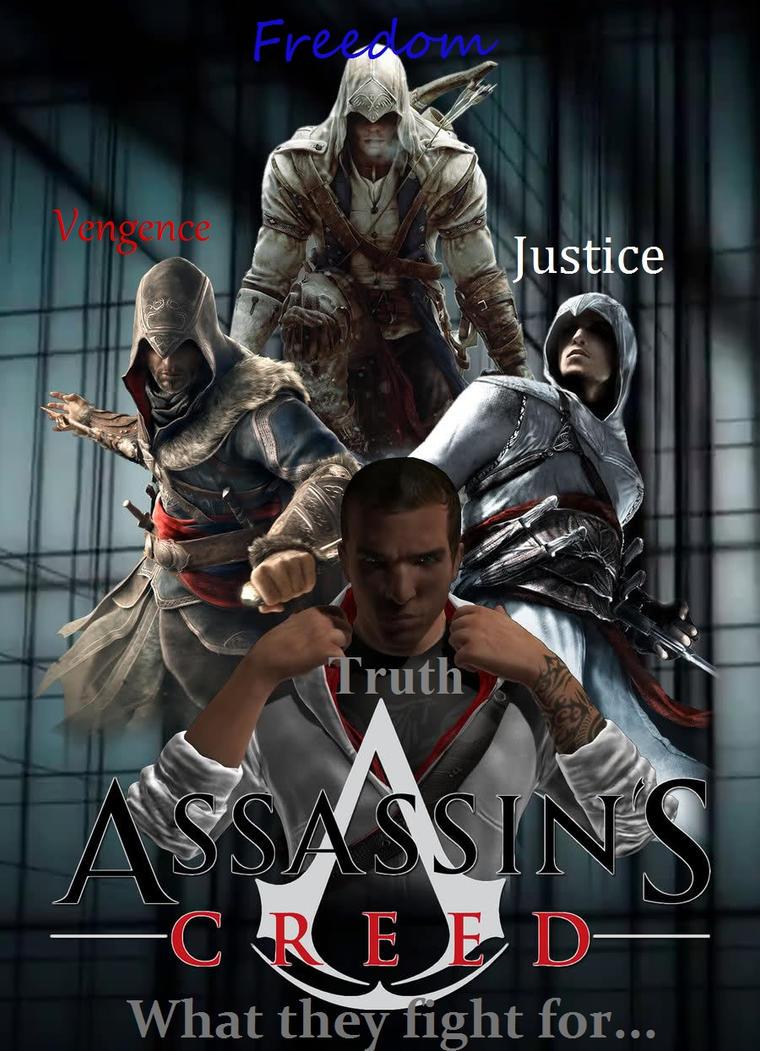 Ezio Connor Altair and Desmond by superherocomputerartConnor And Ezio