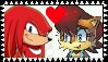 Knuckles X Sally Stamp by ameth18