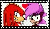 Knuckles X Sonia Stamp by ameth18