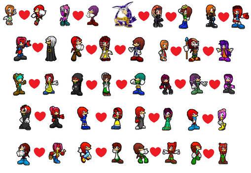 Echidna Couples Icons