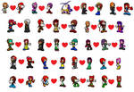 Echidna Couples Icons by ameth18