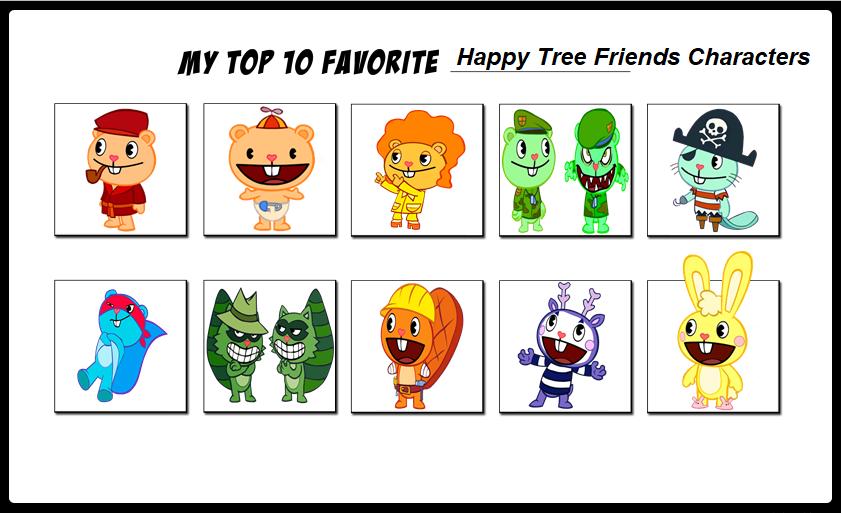 Top Ten Favorite Happy Tree Friends Characters by ameth18 on