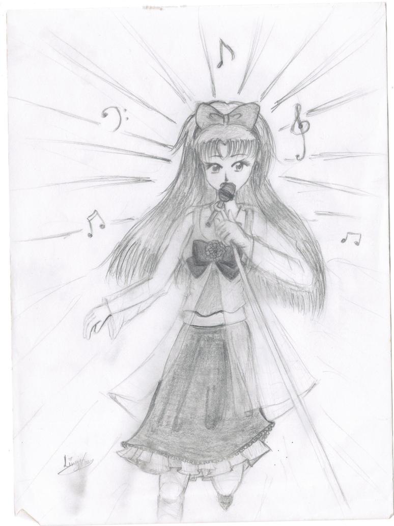 Anime Girl Singing Drawing | Www.imgkid.com - The Image Kid Has It!