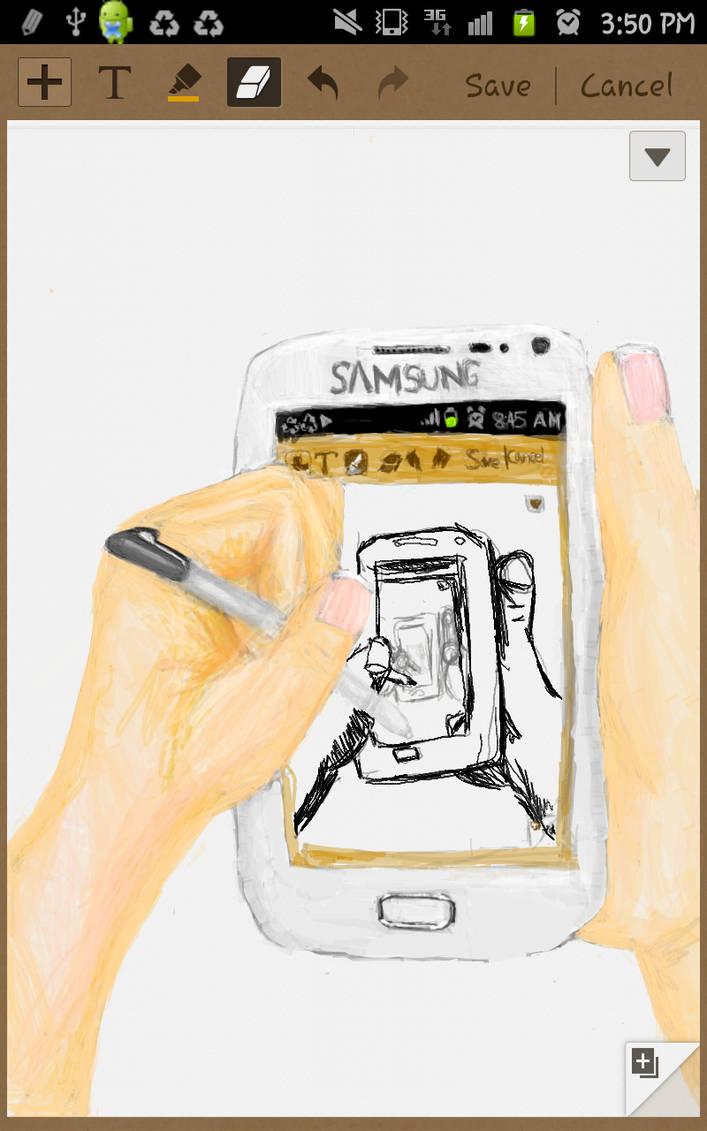 phone draw-ception by pehlx94