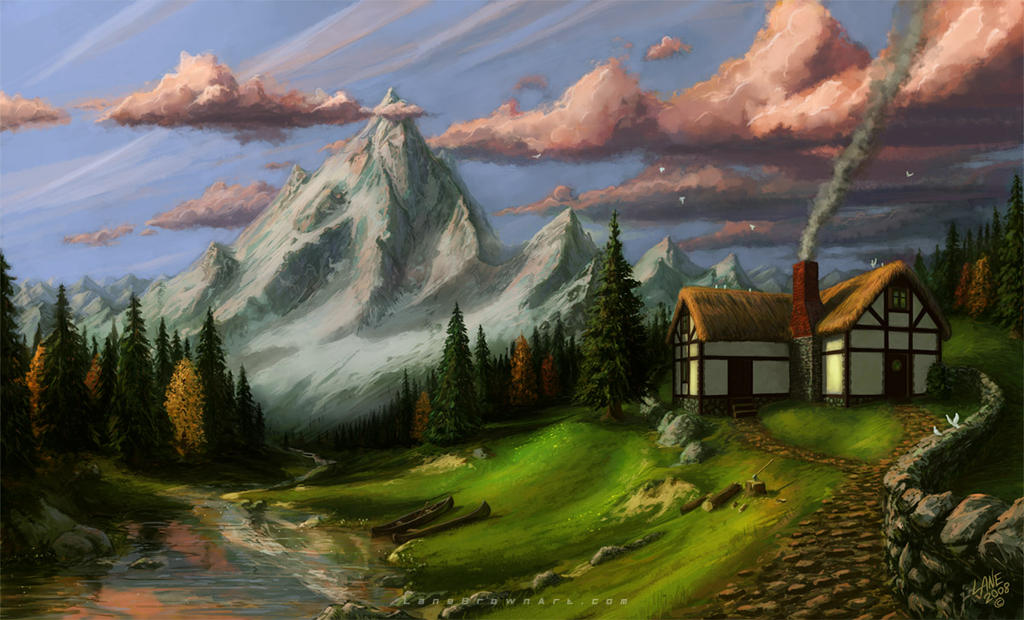 Mountain house by wildweasel339 on deviantart for House on a mountain