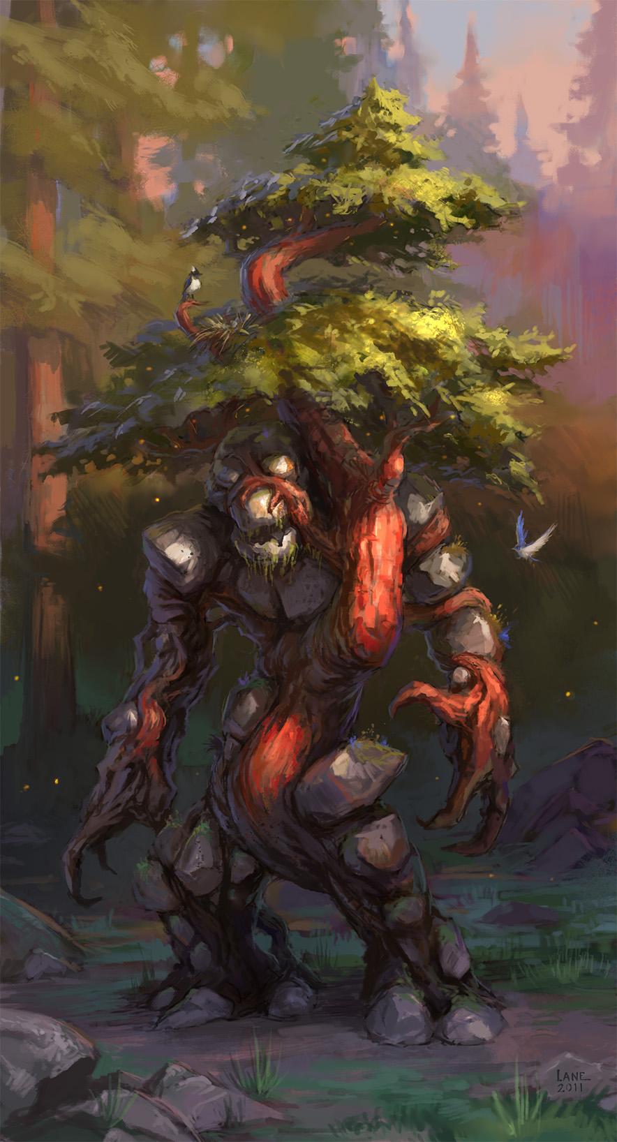 El origen de la Magia [Solitaria] - Página 2 Forest_golem_by_wildweasel339-d4f4nlr