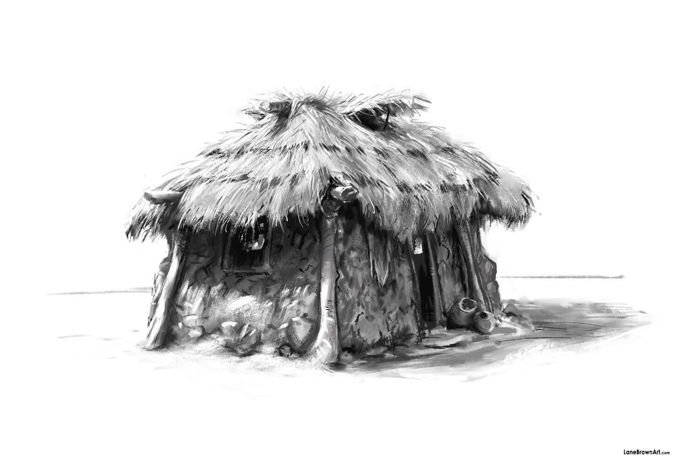 Mud Hut by Wildweasel339 on DeviantArt