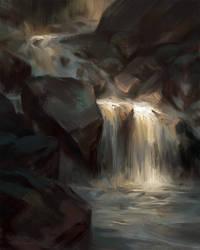 Waterfall Study by Wildweasel339