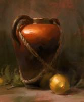 Vase and Lemon by Wildweasel339