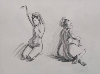 Figure Drawings - Duo by Wildweasel339