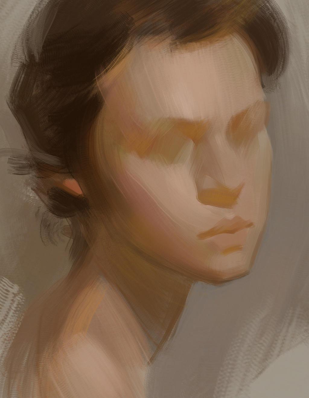 Portrait Block-in by Wildweasel339