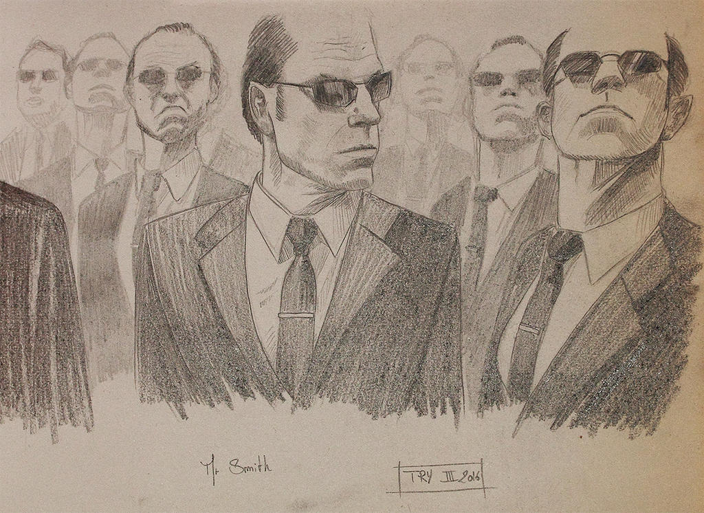 Agent Smith sketch by T-ry