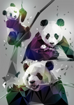 Pandas LowPoly