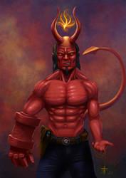 Hellboy by T-ry