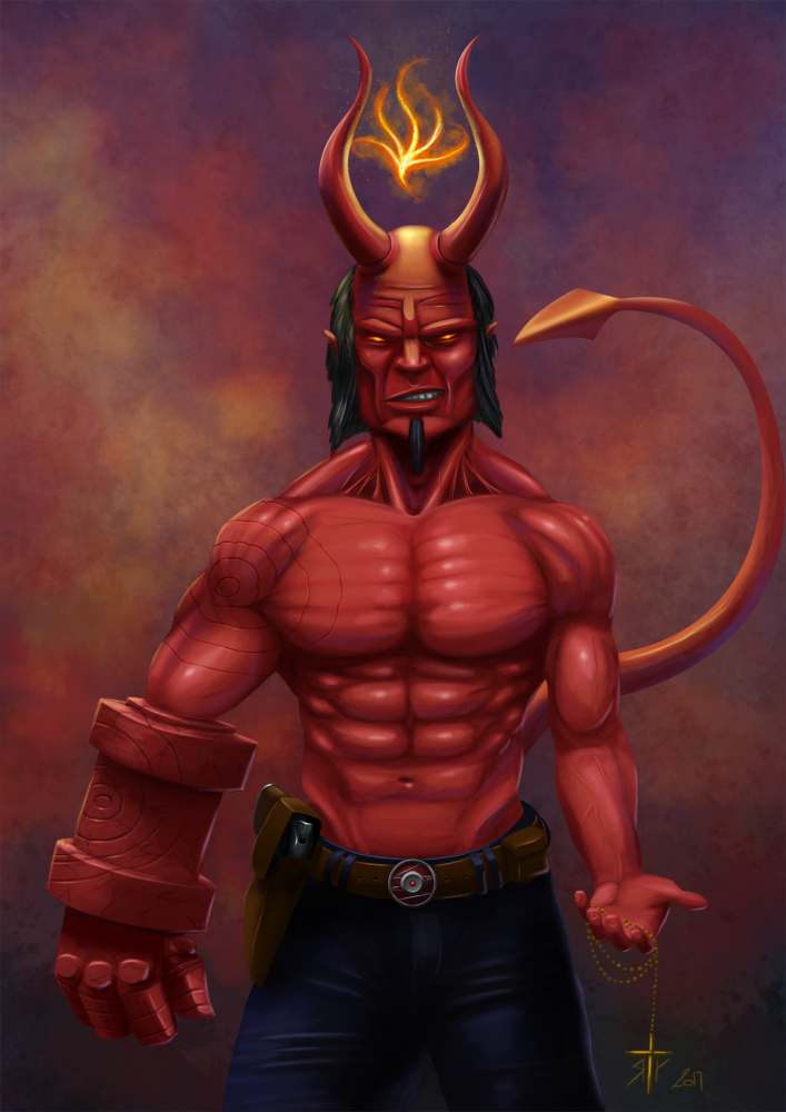Hellboy by T-ry