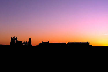 Abbey at sunset by Lisa-Downing
