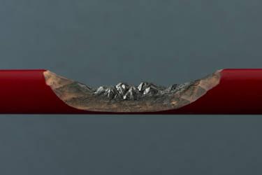 Mountain range by TOLDart