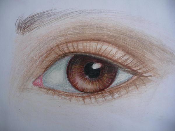 pencil crayon eye by trubldlilchldrn on DeviantArt