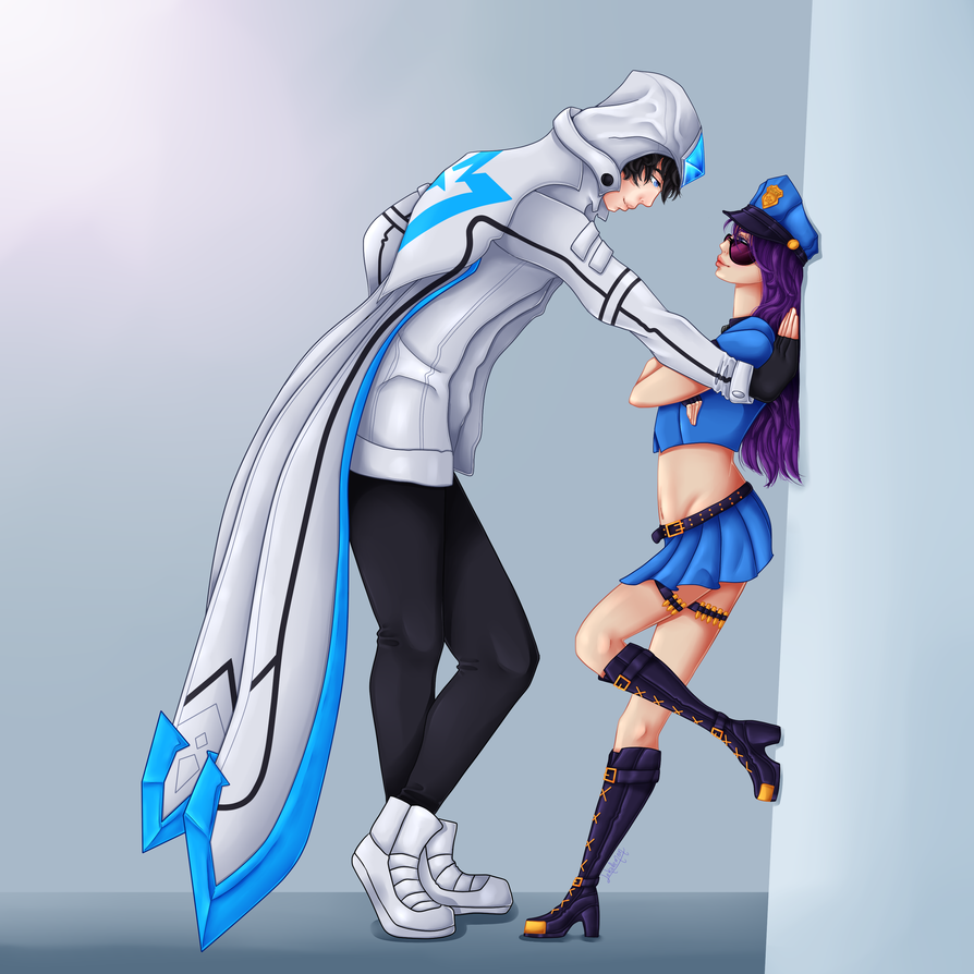 SSW Talon and Officer Caitlyn by lekademon