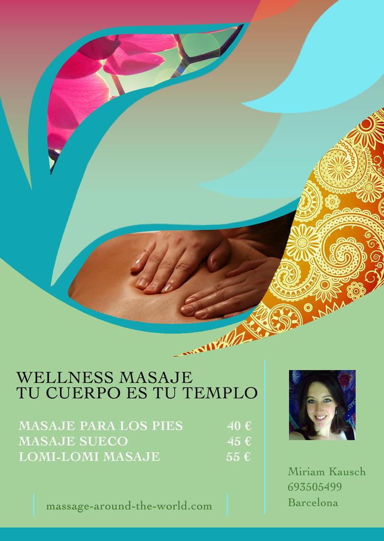 wellness massage flyer by tinybuddhadesigns on deviantart. Black Bedroom Furniture Sets. Home Design Ideas