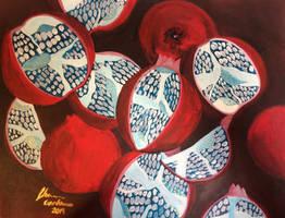 Crimson Poms