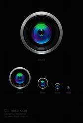 camera icon -2009- by blacksnail