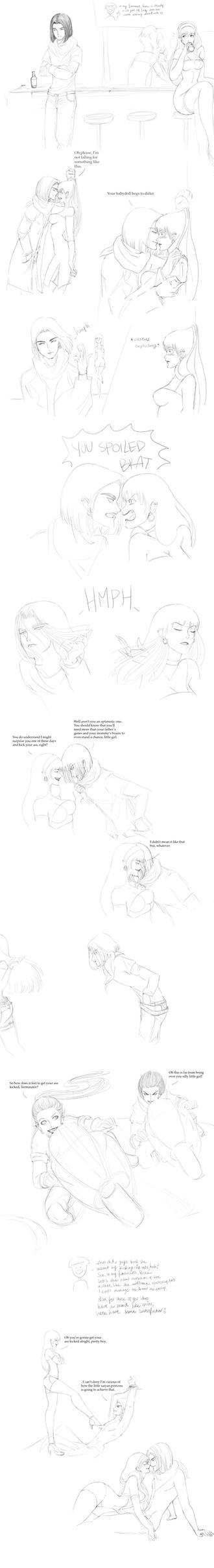 Random Sketches (Bura x 17) by Arumuelle