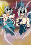 Goku y Vegeta Super Saiyan 9
