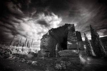 Ruins at Ymittos Mountain by Tadobi