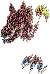 Fire Wolf Design by TheLordDarkWolf
