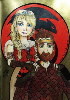 Astrid and Hiccup HowToTrainYourDragon