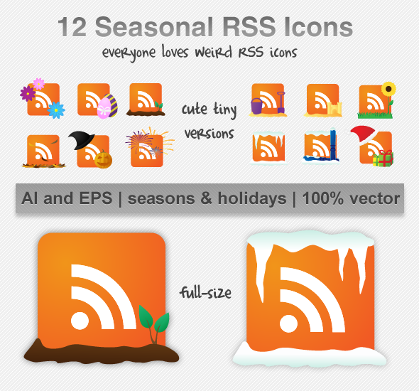Seasonal RSS Icons by michelledancer