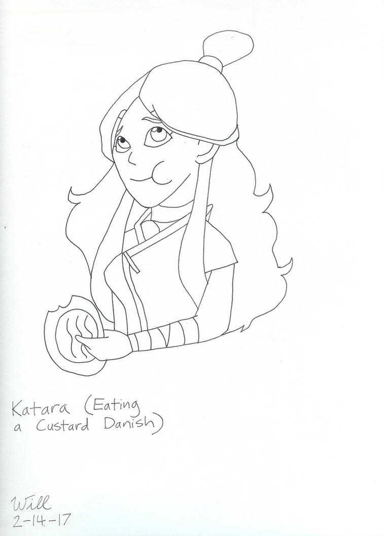 Katara Eating a Custard Danish by Spike-MacTorren84